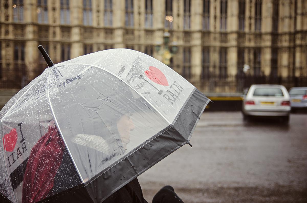 Deszcz w Londynie