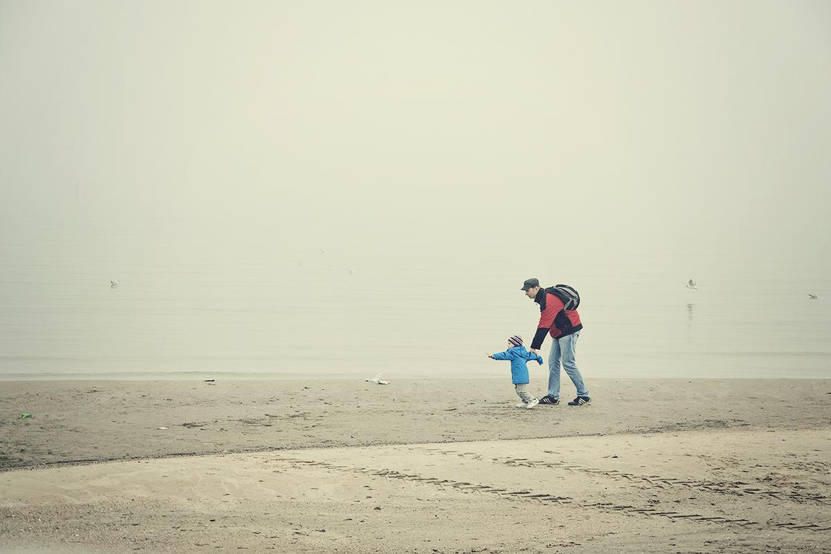 mgla na plazy w gdyni