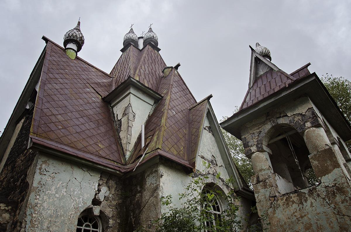 zburzony trzęsieniem ziemi kościół