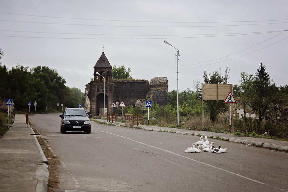 gęsi na ulicy Armenia