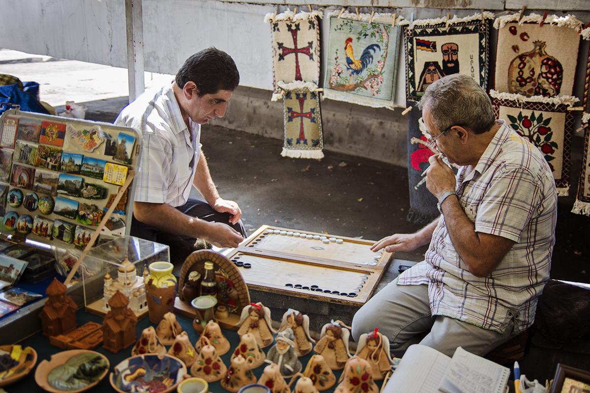 na rynku w armenii