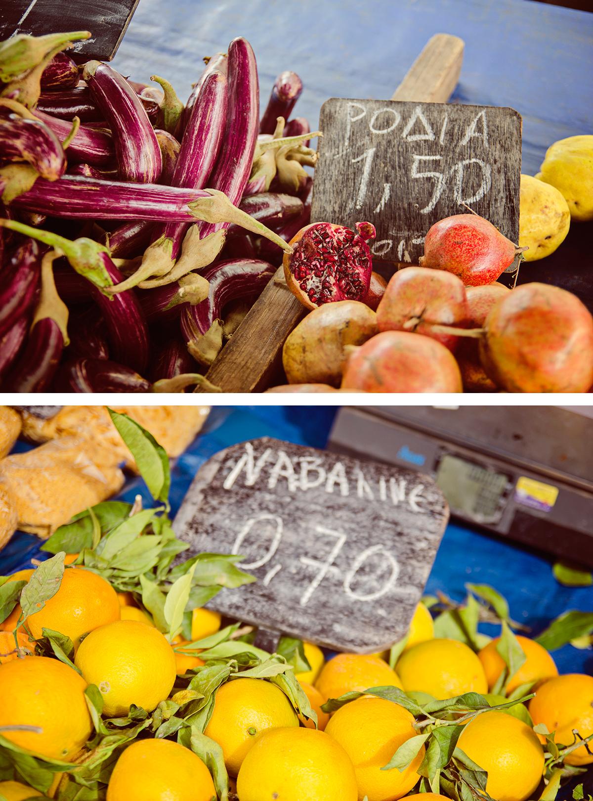 warzywa i owoce na greckim bazarze
