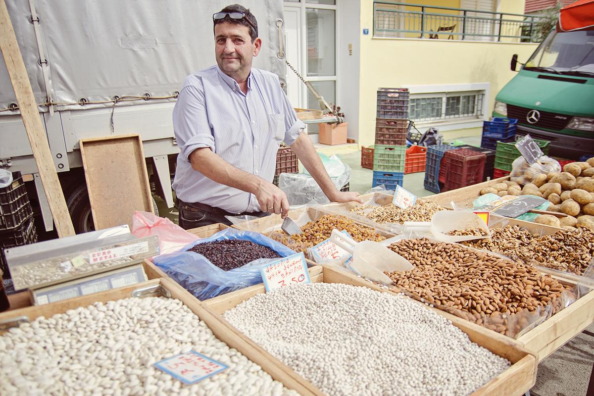 Sprzedawca fasoli