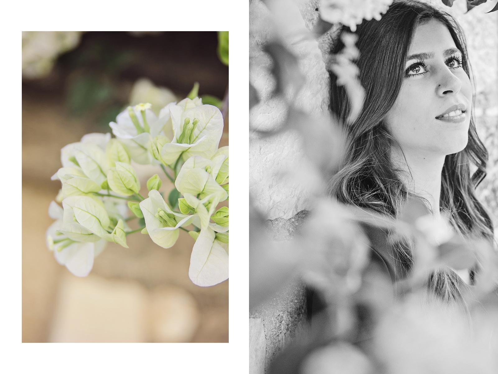 greckie kwiaty i portret