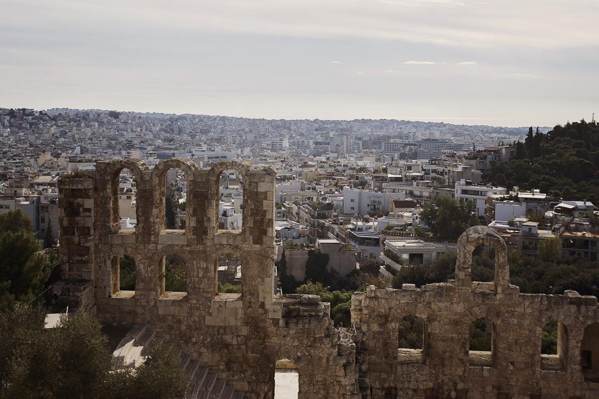 ruiny przy akropolu