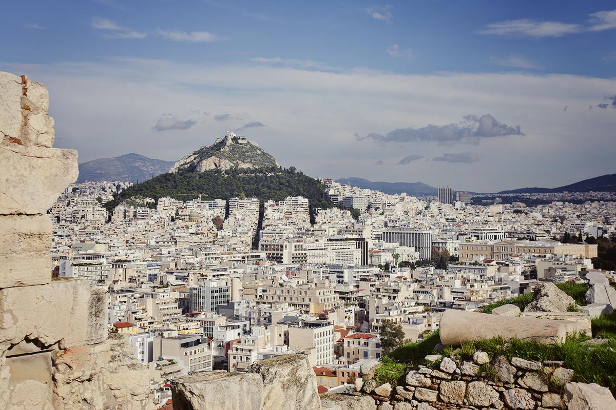 Widok z Akropola atenskiego