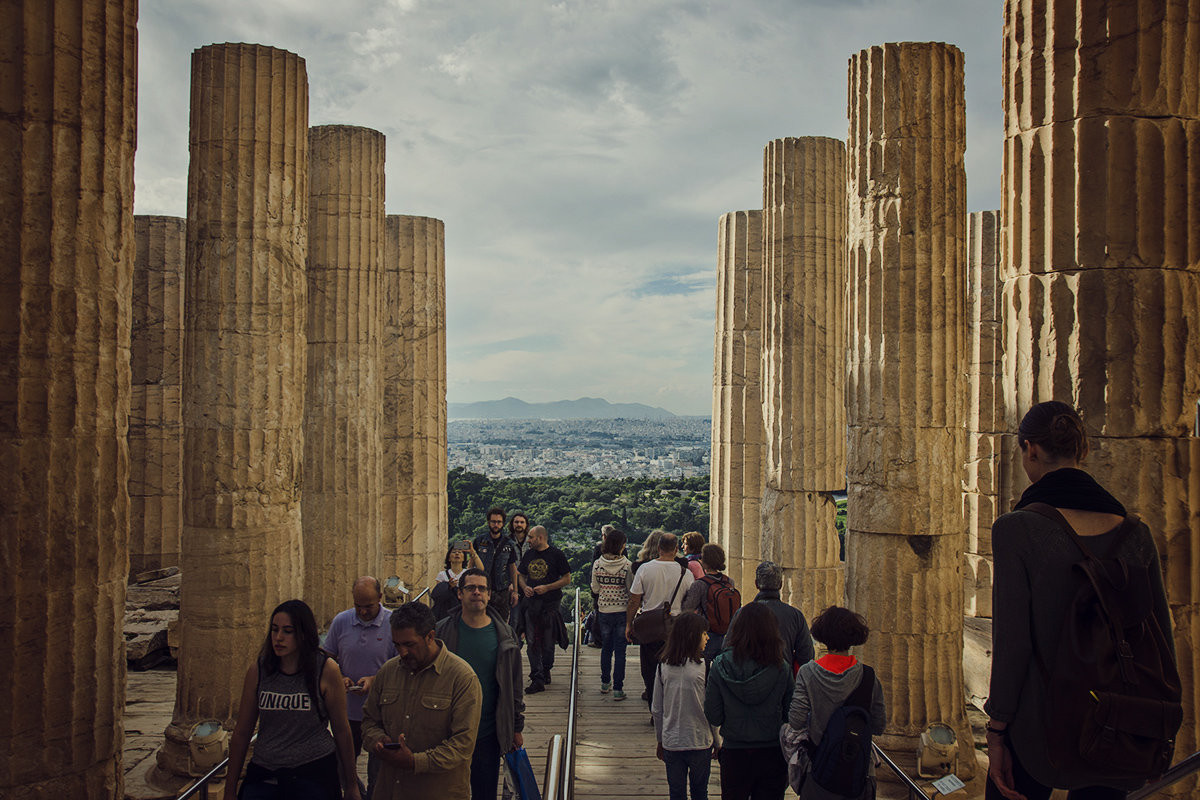 Kolumny na Akropolu