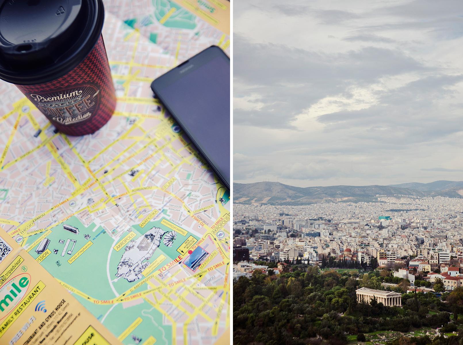 Ateny z mapą